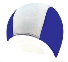 Stoffen Badmuts 100% polyester (Blauw/Wit)