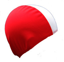 Stoffen Badmuts XL, 100% polyester (Rood/Wit)