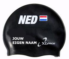 Badmuts Nederland (Zwart) met je eigen naam