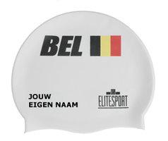 Badmuts België (Wit) met je eigen naam